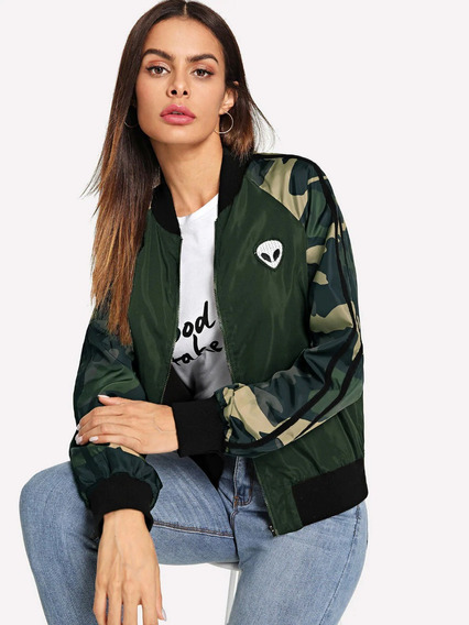 Chamarra Alien Camuflaje Militar Chamarras Mujer Ropa Mujer