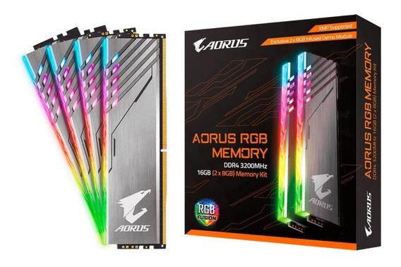 Memoria Gigabyte Aorus Rgb Fusion 16g Ddr4 3200 Mh2x8/con