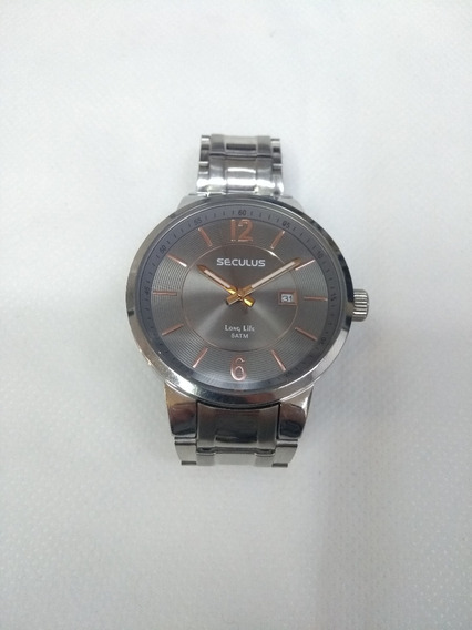 Relógio Masculino Prata Seculus 28218g0sbna1 Leia O Anúncio