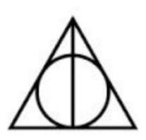 Tatuagem Temporária Harry Potter Relíquias Pronta Entrega