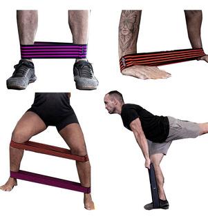 Faixa Elástica Exercício Yoga Pilates Tipo Thera Band 3 Pçs