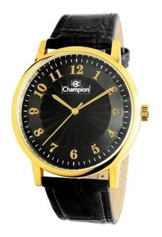 Relógio Champion Masculino Cn20560p Couro