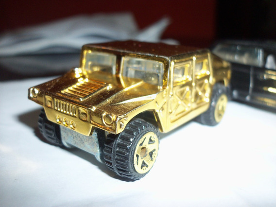 Hot Wheels Hummer H2 Cromo Gold De Coleccion A Escala 1.64