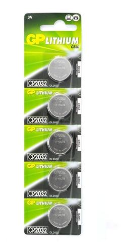 Pila De Botón Cr2032 Gp Lithium 3v/220 Mah X 5 Blíster De 2