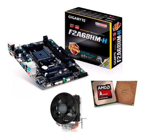 Kit Gamer C/ Apu Amd A8 8650b Quadcore + Placa Mãe + 8gb Ram