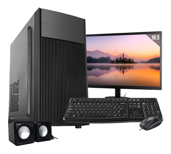 Computador Completo Intel 4gb Hd 500gb Wifi Win10 C/ Monitor
