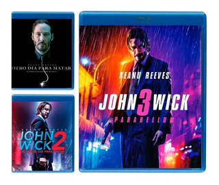 John Wick 1 2 3 Trilogia Paquete Peliculas Blu-ray