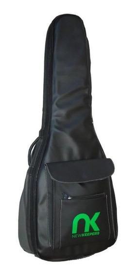 Bag Para Violão Folk Eco Couro Sintético Newkeepers Preto