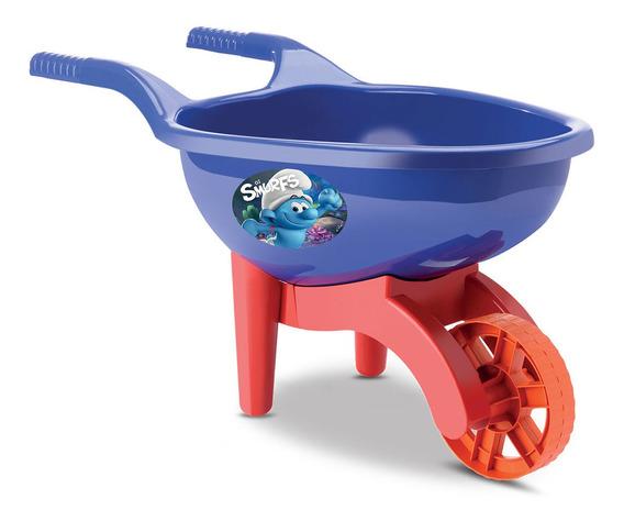 Carriola Infantil Os Smurfs Menino - Samba Toys