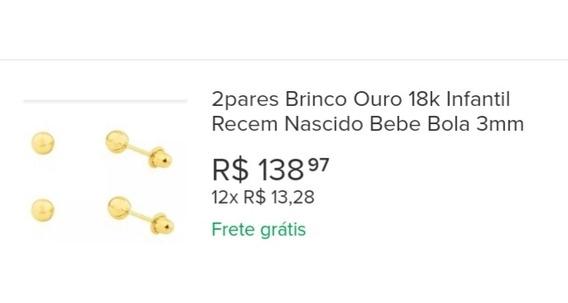 Brincos Ouro Bolinha