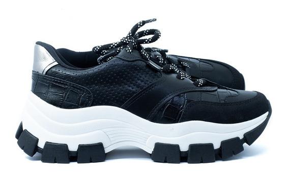 Tenis Feminino Casual Sneaker Dakota G2491 Preto