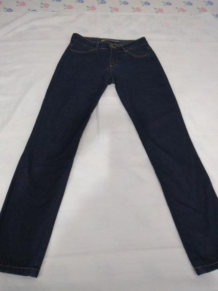 Calça Jeans Escuro Marca Dopping Tamanho 36 Com Elastano