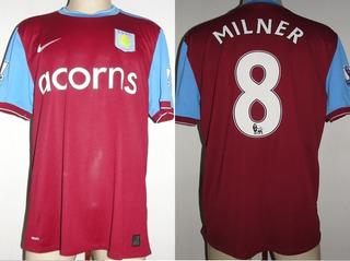 Camisa Aston Villa Home 2009 / 2010 Milner # 8