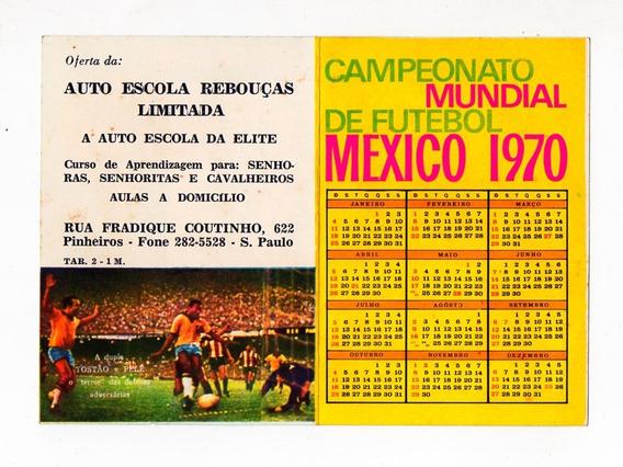 Propaganda Antiga Tabela Copa Mundo Mexico 70