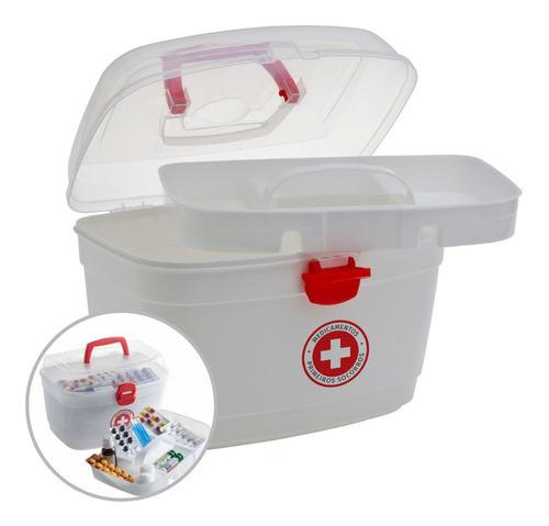 Imagem 1 de 6 de Caixa Primeiros Socorros Com Alça Pequena Organizadora