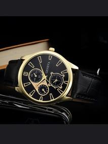 Relógio Luxuoso De Couro