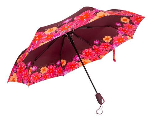 Paraguas Bordo Flores