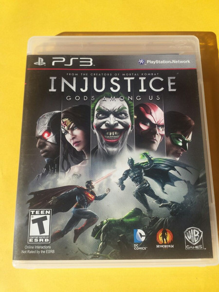 Injustice Jogo Original Ps3