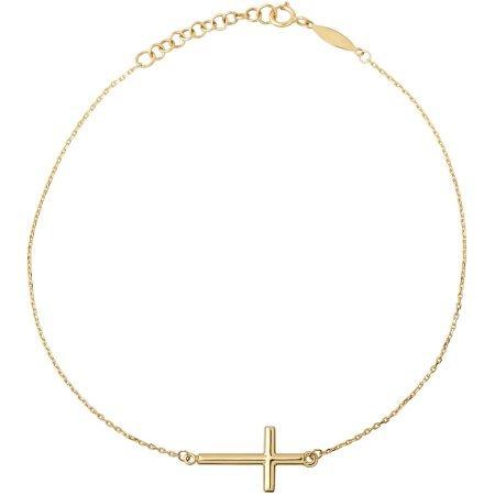 Simplemente Oro 10kt Amarillo Vera Cruz Del Oro En El Cable