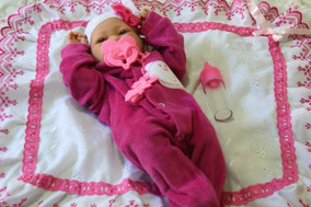 Boneca Bebê Reborn Pronta Entrega Menina Corpo Silicone 38cm