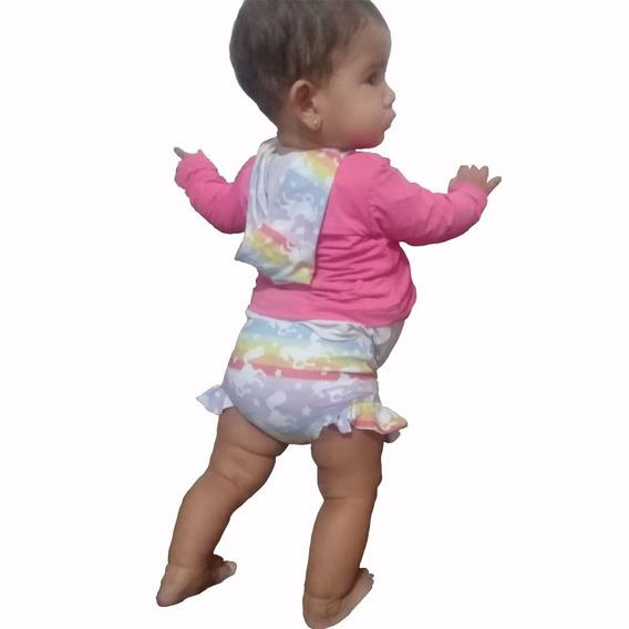 Conjunto Bebê Menina Com Proteção Solar Uv-tam.3 A 15 Meses