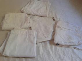 Lote 5 Calças E Bermudas Branca Masculino Tm 46a48 Frete Gr