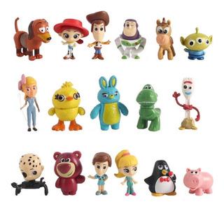 Set X 17 Figuras Toy Story 4 Disney Pixar Jessie Woody Forky