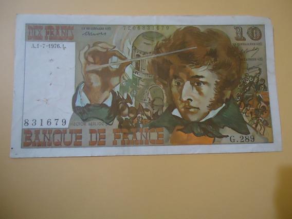 Billete Frances De 10 Francos De 1976