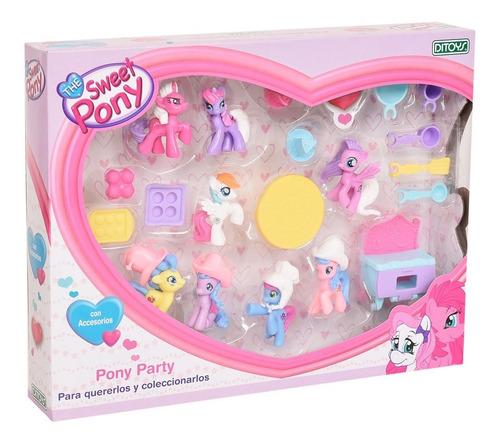 Set Muñecas The Sweet Pony Party Accesorios Ditoys Original