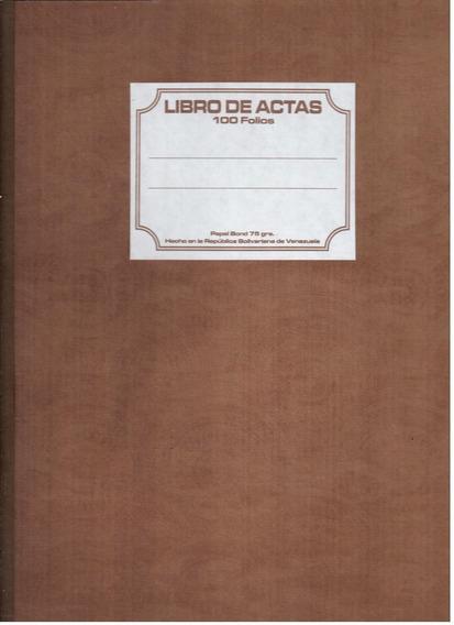 Libro Actas 100 Folios