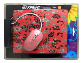 Mouse Ótico Maxprint Usb Com Base Para Mouse 607278