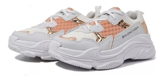 Tenis Balenciaga Feminino Triple S Carol Star Shoes