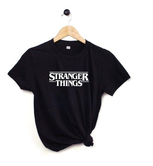 Blusa Playera Camiseta Dama Stranger Things Negra Elite #212