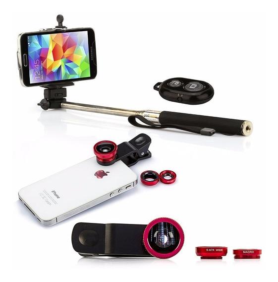 Kit Selfie Lentes Bastão Iphones Smartphones Frete Fixo Leia