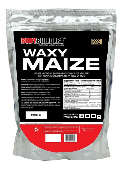 Waxy Maize Natural 800g - Bodybuilders