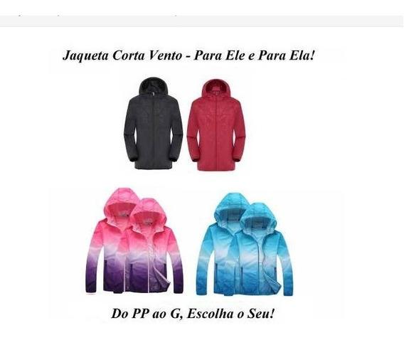 Jaqueta Corta Vento Unissex 2 Modelos - Kit Com 3, Escolha!