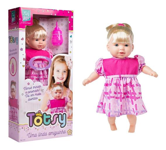 Boneca Totsy 42cm C/ Chupeta - Fala 113 Frases - Supertoys