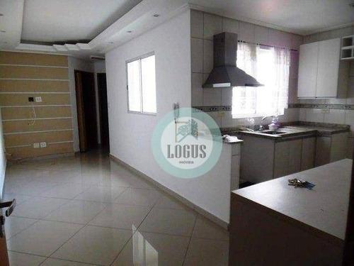 Imagem 1 de 5 de Cobertura Com 2 Dormitórios À Venda, 100 M² Por R$ 295.000,00 - Jardim Das Maravilhas - Santo André/sp - Co0140