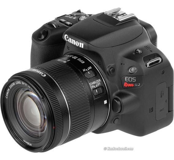 Câmera Canon Rebel Sl2 Ef-s 18-55mm Is Stm + Lente 75-300