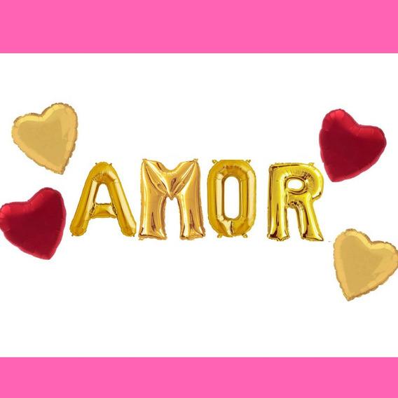 Globos Metalizado Amor Love Novios Boda Cotillón