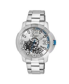 Relógio Condor Masculino Prata Visor Prata Azul Co2415bj 3k