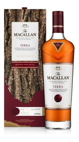 Imagen 1 de 9 de Whisky The Macallan Terra Single Malt 700ml  En Estuche