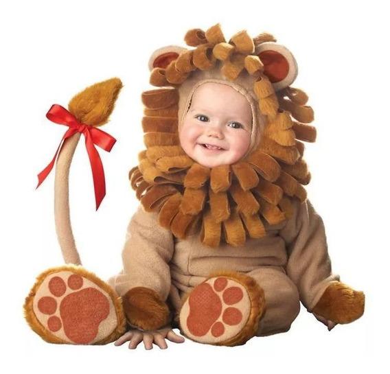 Roupa Fantasia Leão Bebê Leaozinho Macacão Estilo Parmalat