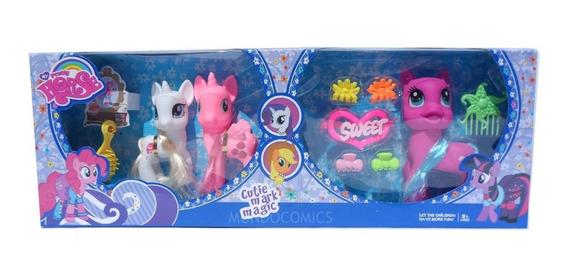 Set De My Little Pony De 3 Figuras + Accesorios