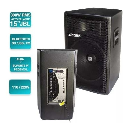 Kit Caixa De Som Ativa + Passiva 15 600w Rms Falante Jbl