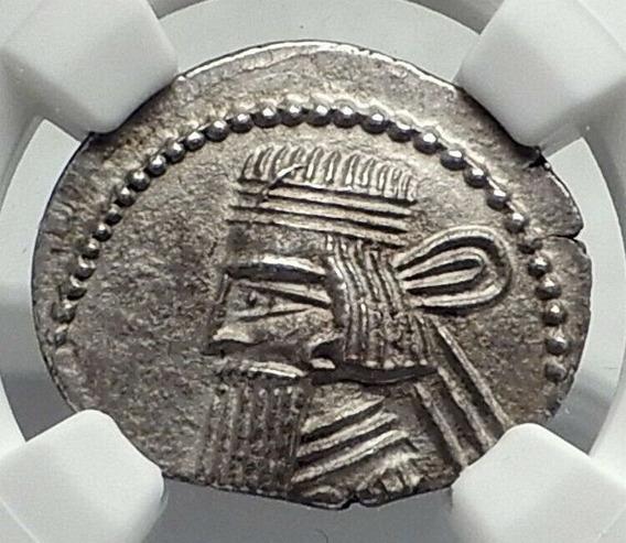 Moeda Rei Artabanus V - Grécia Antiga 79-85 D.c Ngc