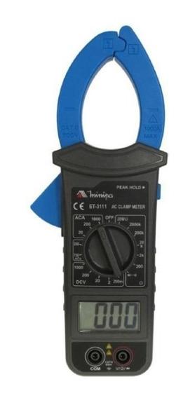 Alicate Amperimétrico Digital Et-3111 Minipa
