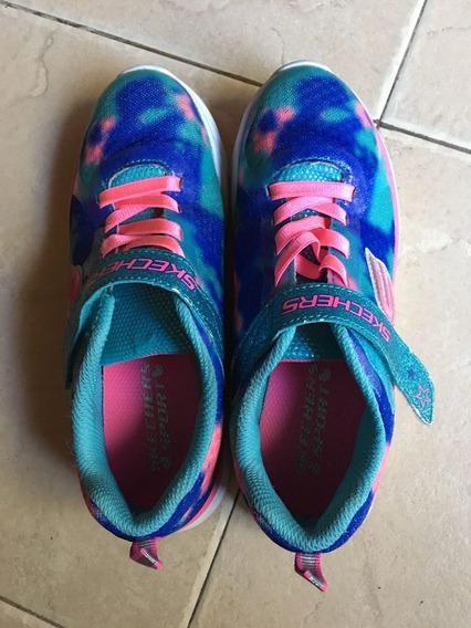 Zapatillas Skechers Mujer Originales Eeuu Talle 35.5 Usadas