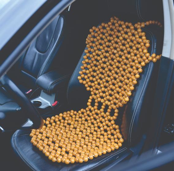 Capa Assento Massageadora Automóvel Bolinhas De Madeira