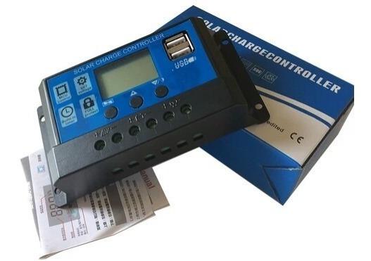 Kit 2 Unid.controlador De Carga Painel Solar Pwm 20a 12-24v